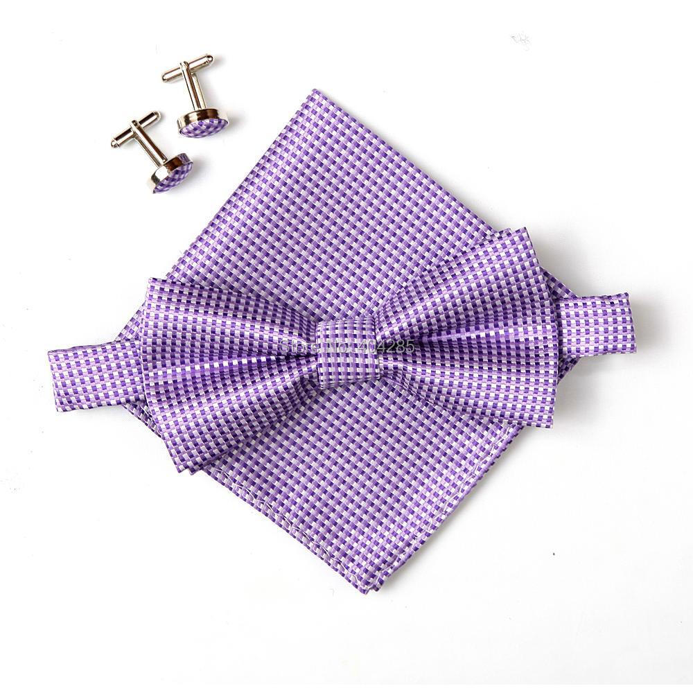 2019 nou bărbați plaid bărbați cravată set bowties hanky - Accesorii pentru haine