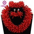 Fabulous Tomato Red Spike Crystal Beaded Necklace Earrings Bracelet Set Gothic Statement Jewelry Set Heavy Free Shipping WD018