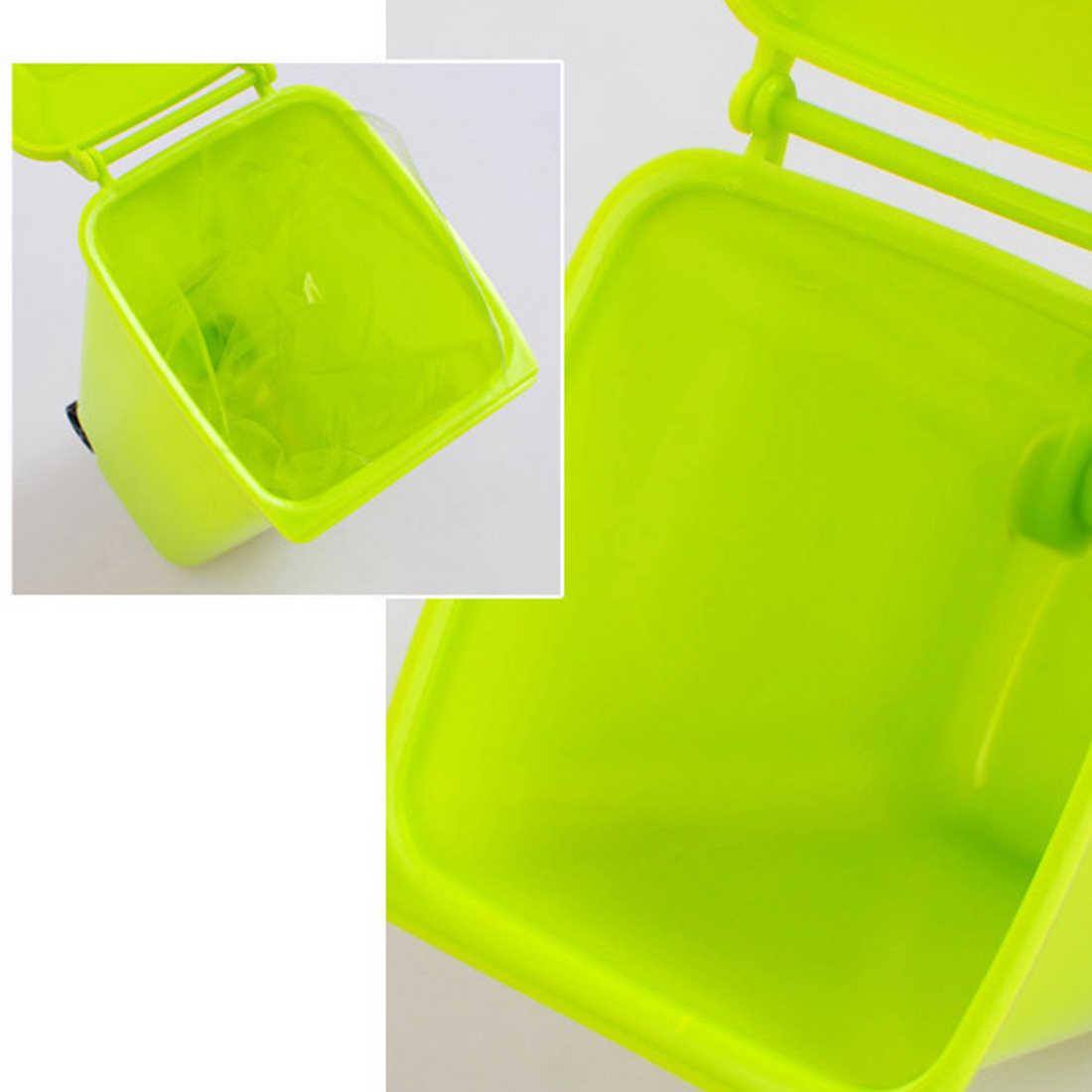 Balde de lixo Colorido Lata de lixo e Reciclagem De Alta qualidade Mini Caixa De Armazenamento De Caneta Titular para casa ou ao ar livre
