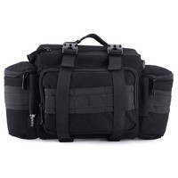 Photo Multi functional Camera Canvas Tactical Bag Waist Rucksack Soft Pack Single Shoulder Case for Canon Nikon Sony DSLR