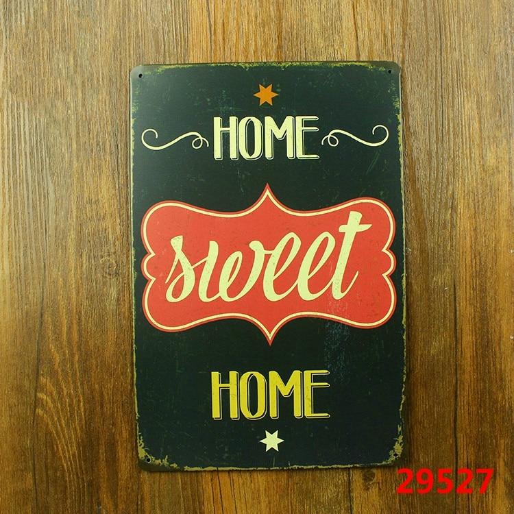 Decoracion Vintage Para Bares. Finest Hogar Dulce Hogar Vintage Tin ...