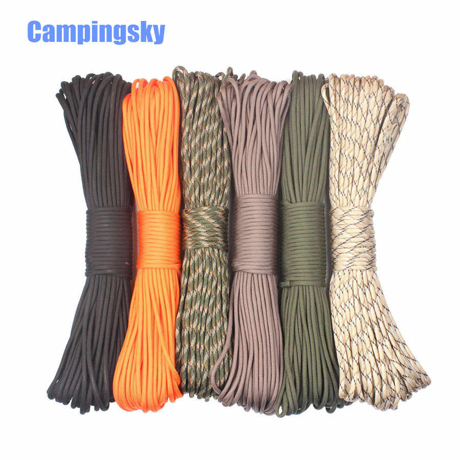 100M 328 FT Rainbow 550 Paracord Rope 9 Strand Parachute Cord Camping Hiking
