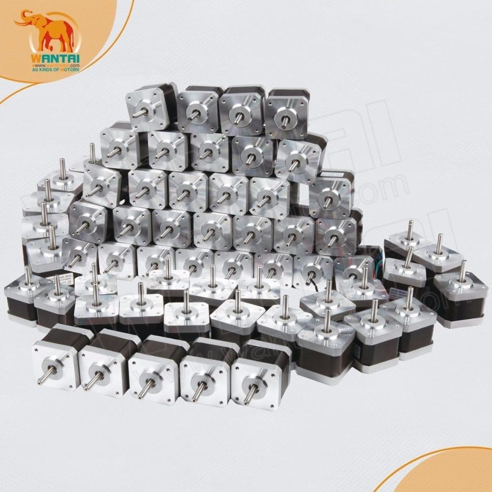 50 PCS Wantai 42BYGHW811,Nema 17 Stepper Motor 4800g.cm/70OZ-in,2.5A  3D CNC Reprap Makebot Printer,      www.wantmotor.com wantai cnc riuter 4 aixs nema 17 stepper motor 42byghw811 70oz in