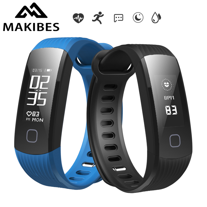 Original In Stock Makibes HR1 Bluetooth Smart Bracelet Band Fitness Activity Tracker Heart Rate Monitor Wristband For Android ...