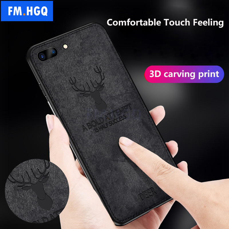 Hot Cloth Texture Deer 3D Soft TPU Magnetic Car Case For iPhone 6 6S 7 8 Plus Built-in Magnet Plate Case For iPhone 8 Plus Cover