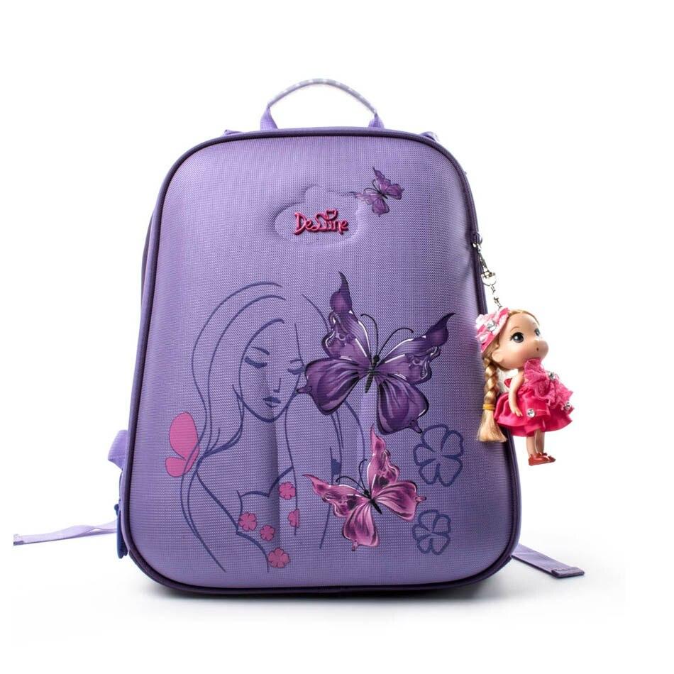 Детская Школьные ранцы для Обувь для девочек Бабочка основной Класс 1-5 Водонепроницаемый ортопедический рюкзак Детская школьная сумка Mochila...