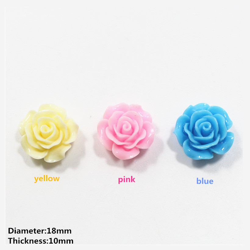 Free shipping 10pcs 18mm fashion pink flowers Flat back resin buttons, garment accessories DIY Hair jewelry accessories,z05