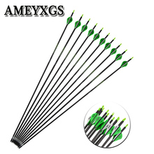 6/12pcs Spine350 Mix Carbon Arrow Turkey Feather Archery ID:5.2mm Outdoor hunting Shooting Accessories