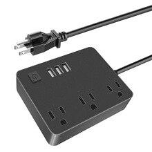 Inteligente Wifi Power Strip Surge Protector 3 Múltiplos Soquetes De Poder Porta USB Controle de Voz para Amazon Echo da Alexa Google temporizador casa