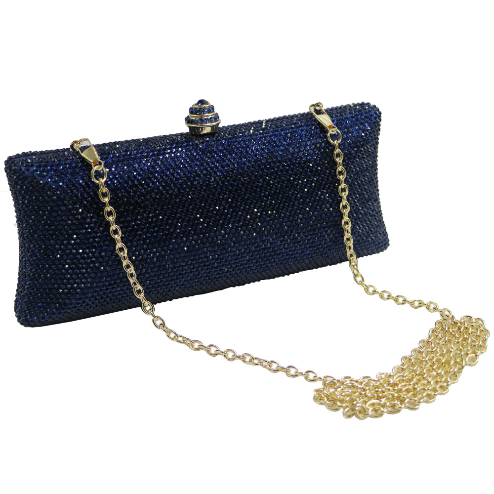 NEW FRAME BOX FAUX LEATHER GLITTER HARD COMPACT CHAIN LADIES CLUTCH HANDBAG