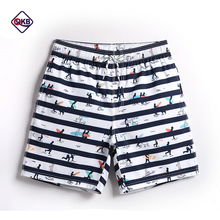 QIKERBONG S18 Quick-drying beach shortsMan Striped boardshorts polyester Man Bermuda