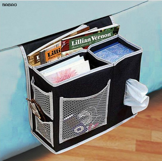1PC Homewares Bedside Sofa Opbevaringspose Sundries Holder Case Organizer Household Hanging Bag For Fjernbetjening Magasiner Telefon