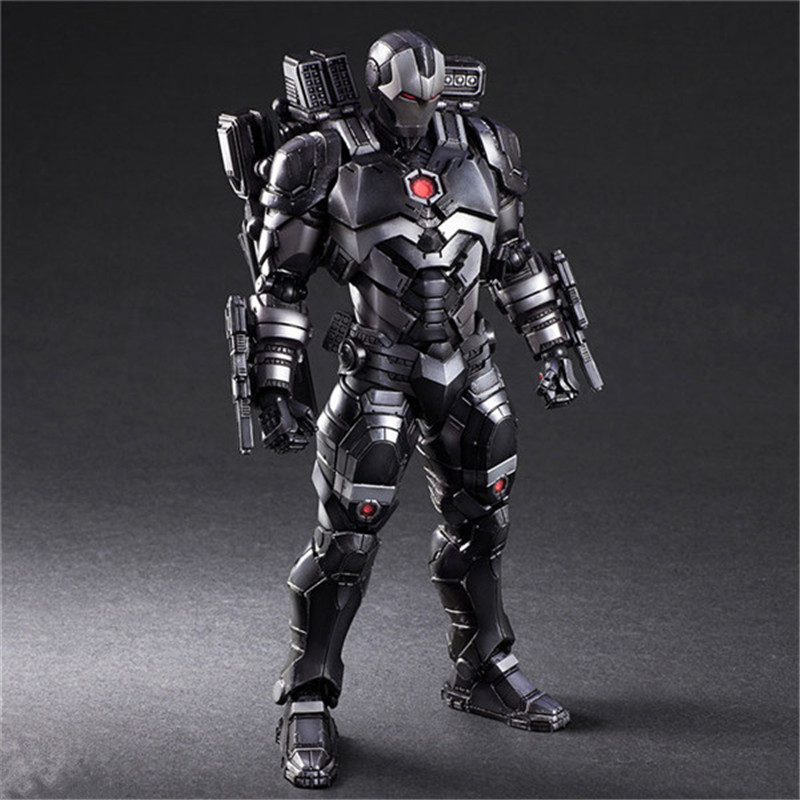 Luxury Super Heroes Iron Man Action Figure Toys Movie Grey Iron Man with Weapon Variable Figuras Dolls Brinquedos Cosplay Gift 27cm  (5)