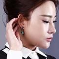Fashionable wholesaler Eye-catching drop earrings Wonderful Sharp Turquoise blue color Fancy earrings for party girls
