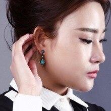 Mayorista de moda aretes llamativos maravilloso sharp color azul turquesa pendientes de lujo para las muchachas de partido