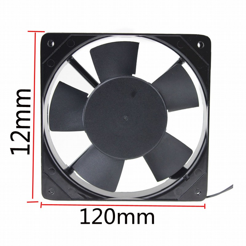 2 Pieces lot Compuuter 120x120x25mm 120mm 220V 240v 2pin AC Cooling Fan with Plug in Fans Cooling from Computer Office
