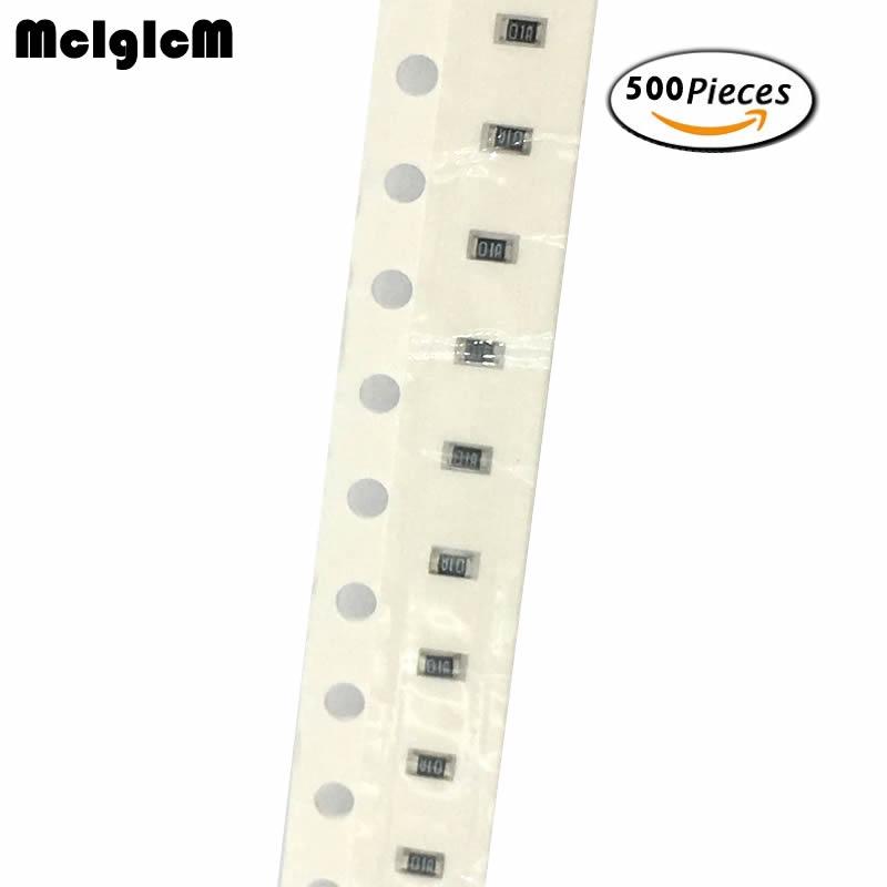 MCIGICM 500pcs 1% 0603 Smd Chip Resistor Resistors 0R-10M 1/10W 1K 22K 47K 100K 1M 10M 100R