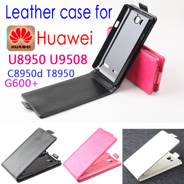 High Quality New Original HUAWEI U8950 U9508 C8905D T8950 G600 Leather Case Flip Cover Case Phone