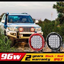 9 pulgadas 96 W del trabajo del LED luz 12 v 24 v IP67 contado llevada campo a través Drive Light LED luz de trabajo luz externa seckill 55 W 75 W