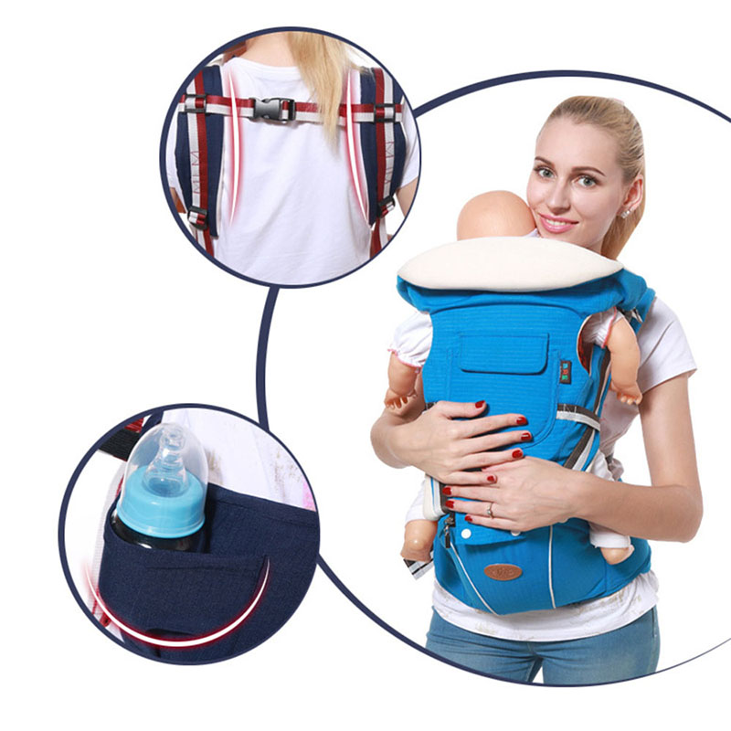 Multifunctional Ergonomic Baby Carrier Sling Backpack 9 In 1 Newborn Infant Carrying Belt For 3-36 Months 10