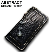 real Snakeskin woman wallet woman's wallet Classic luxury Zipper wallets leather perfect Wallet Ladies black designer purse 2019