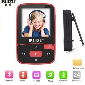 Image 5 - Ruizu x50 스포츠 블루투스 mp3 플레이어 8 기가 바이트 클립 미니 화면 지원 fm, 녹음, 전자 책, 시계, 보수계 vfzsss29bp