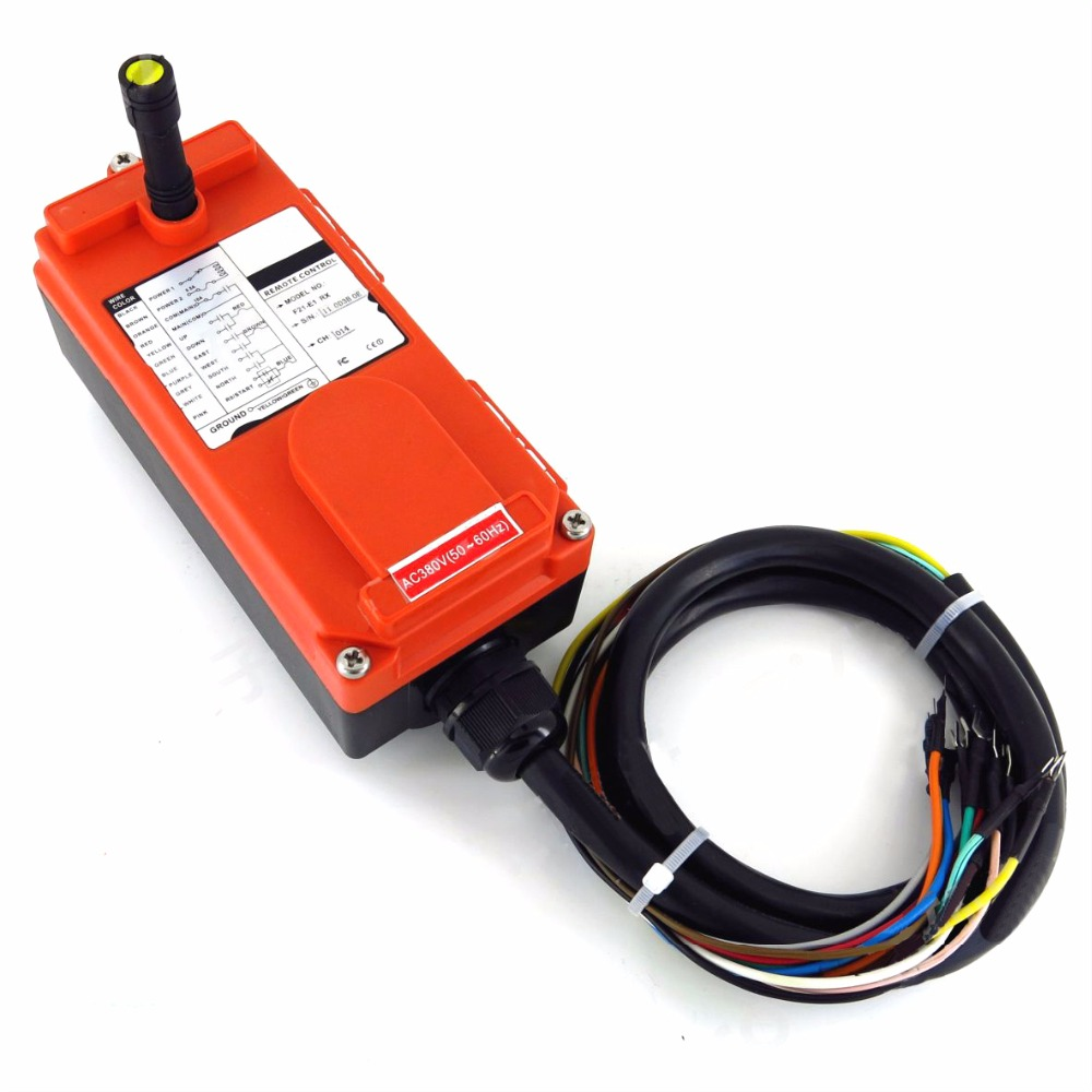 Wholesales F21 E1 Industrial Wireless Universal Radio Remote Control for Overhead Crane DC12V 1 transmitter and 1 receiver in Switches from Lights Lighting
