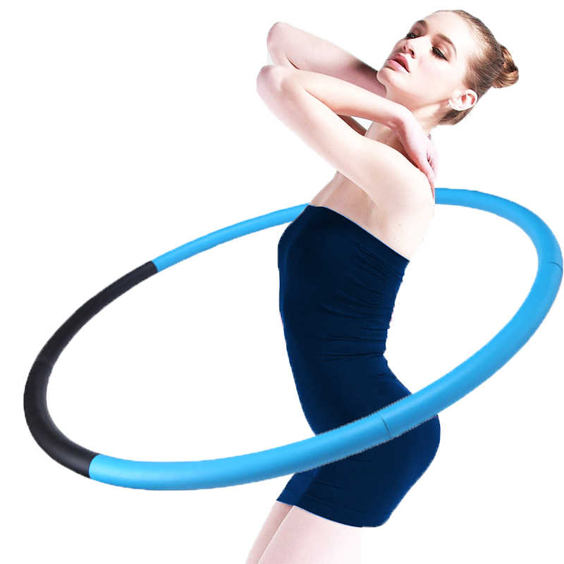 Abdominal Massage Hoop Bodybuilding Removable Sport Loops Hard Tube Circle Waist Slimming Fitness Equipment Gymnastics Ring