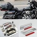 Free Shipping Via DHL ABS Hard Saddlebag Hardware Latch Set Fits For Harley Touring FLT FLH Saddle Bag Lids