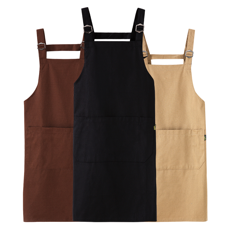 Waterproof Apron Kitchen Cafe Milk Tea Nail Art Shop Cotton Aprons Men And Women Chef Waiter Restaurant Overalls Aprons