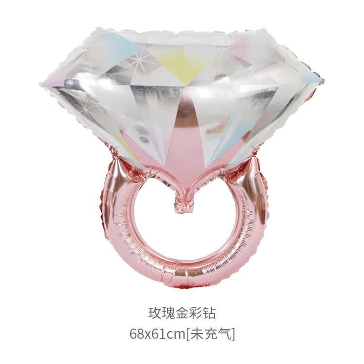 1 piezas de oro rosa anillo de diamantes de globos de helio globo de aire para la boda decoraciones de cumpleaños los niños adultos fiesta suministros