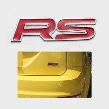Metal RS emblema Trunk etiqueta do carro Styling para For Focus Chevrolet Cruze Kia Sportage Skoda Octavia Mazda VW Hyundai