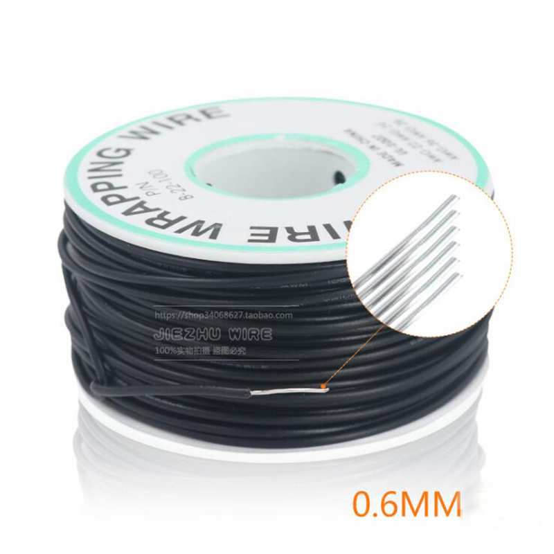300V Circuit Board Flying Wire PCB Jumper 22AWG 0.6mm Bold Electronic Line Single Core Copper Wire Soldering Cable