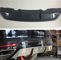 ABS Rear Bumper Lip Dual-Muffler Diffuser Add On Kit For Ford Mondeo Mk4 2013 2014 2015 2016 Fusion