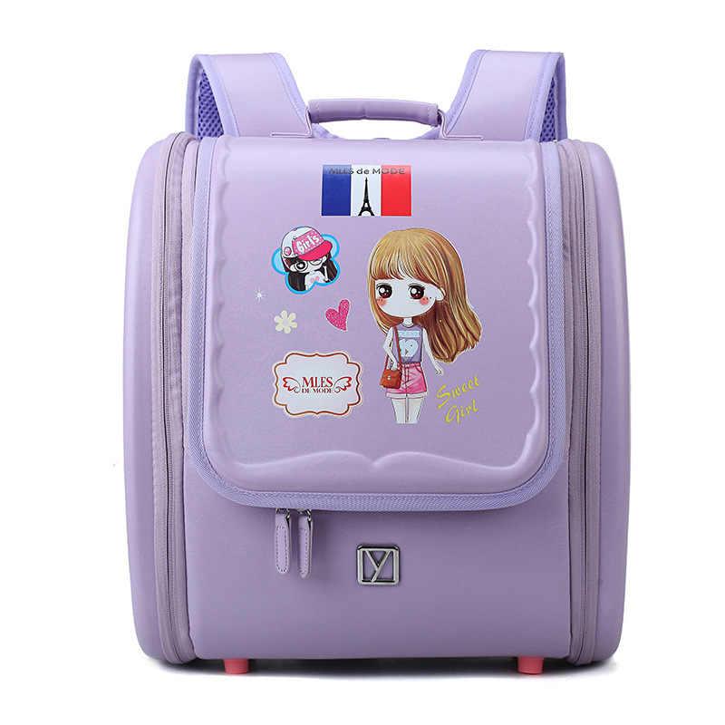 Los niños mochila impermeable primaria japonés escuela mochilas para niños bolsas para la Escuela de las niñas ortopédicos mochila
