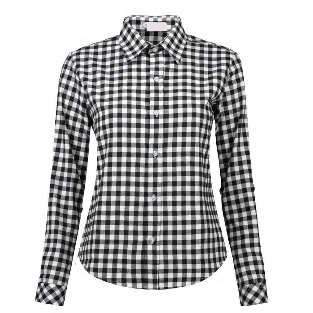 0a6f01413a39 Black And White Checkered Womens Shirt - raveitsafe