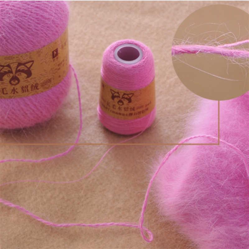 50 + 20g extra macio de pelúcia vison fio de cabelo premium mão tricô crochê thread para cachecol colete chapéu senhora pano inverno queda fio quente