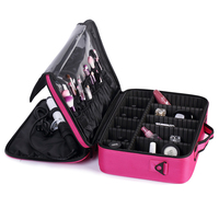 Brand Suitcases Multi Storey Large Professional Cosmetic Case Nail Pattern Semi Permanent Tool Box Storage Makeup