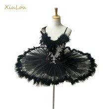 Профессиональная балетная пачка для женщин, Детская балерина, взрослый балетный костюм для детей, Женская балетная пачка с перьями для детей