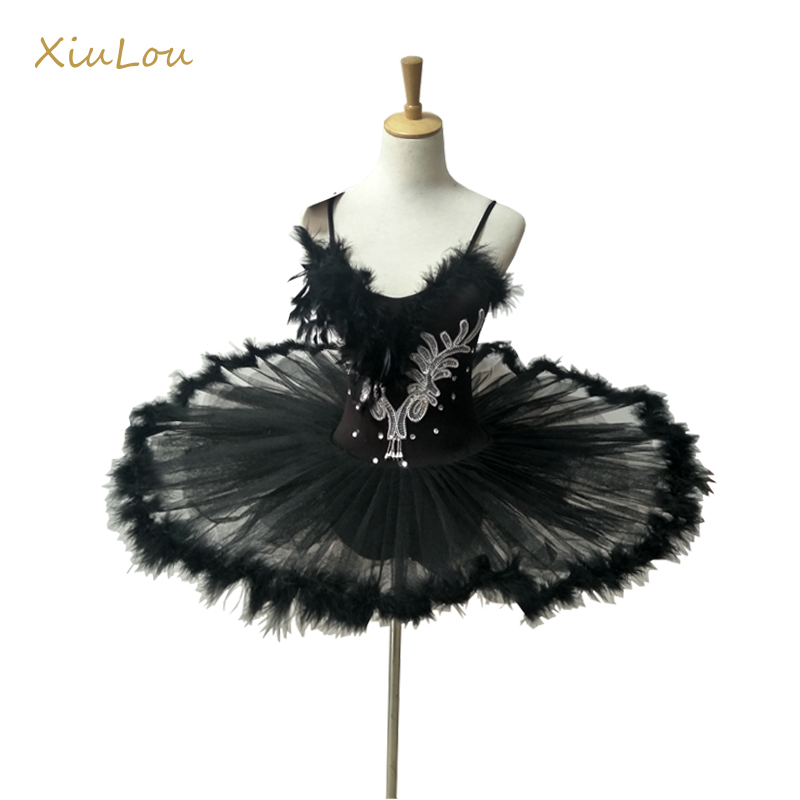 2018 professional ballet tutu women white black swan adult ballet costume kids women feather adult ballet tutu kids