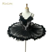 Ballerina Professionele Ballet Tutu Vrouwen Kind Wit Zwart Zwaan Volwassen Ballet Kostuum Kids Vrouwen Veer Volwassen Ballet Tutu Kids