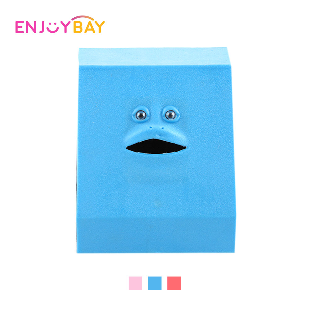 Enjoybay Cute Coin Eating Facebank Toy Automatic Chewing Coin Toys Children Saving Money Teaching Toy Creative Gifts for Kids