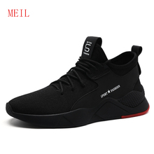 Black Summer Mens Shoes Casual Flying Woven Sneakers Men Breathable Chaussure Sport Homme 2019 New Style Mesh Trainers