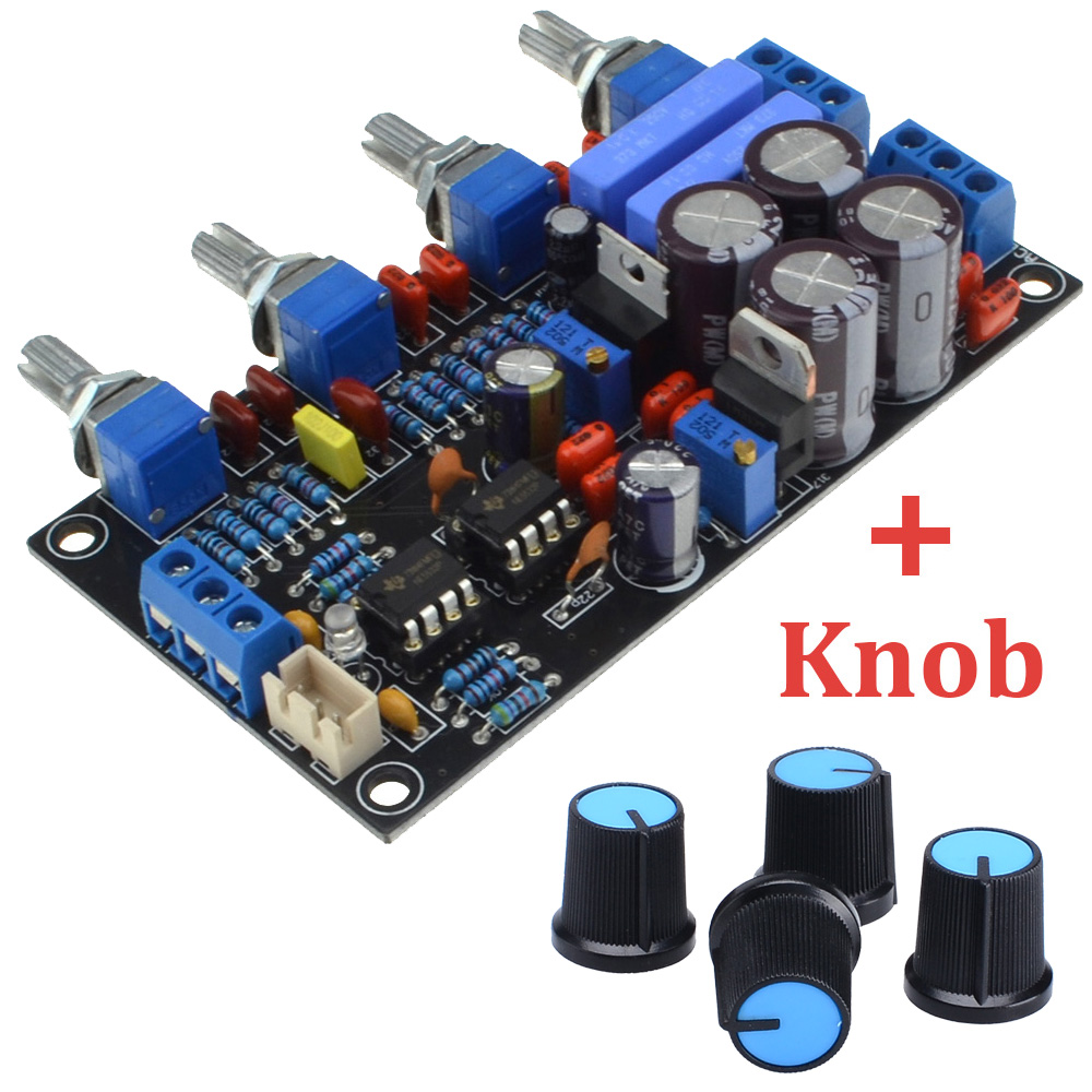 цена на Luxury NE5532 Preamplifier Volume Tone Board AC15V-0-AC15V Volume Control Panel For Amplifier with Knob Free Shipping 12003204