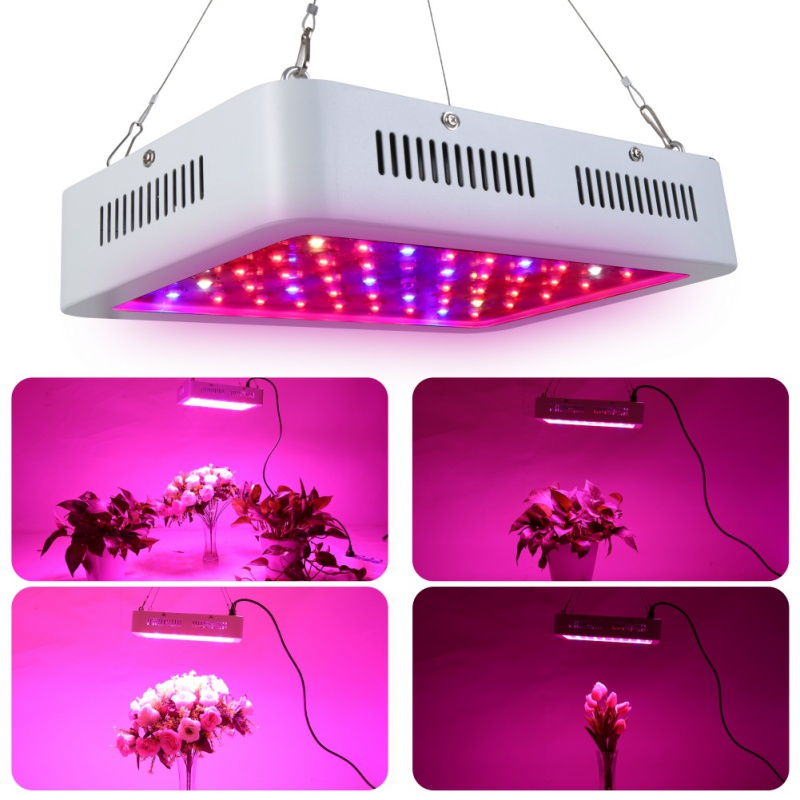 600W 100 LEDs Grow Light Full Spectrum Red/Blue/UV/IR For Indoor Plant 4 Styles Plug 600w double chip 100 leds red grow light full spectrum uv ir for indoor greenhouse plant and flower