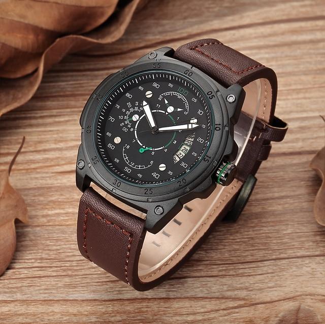 e1e71ee0a15 SHENHUA Mecânico Automático do Relógio Dos Homens Do Esporte Militar Relógios  Relógios de Marca de Relógio