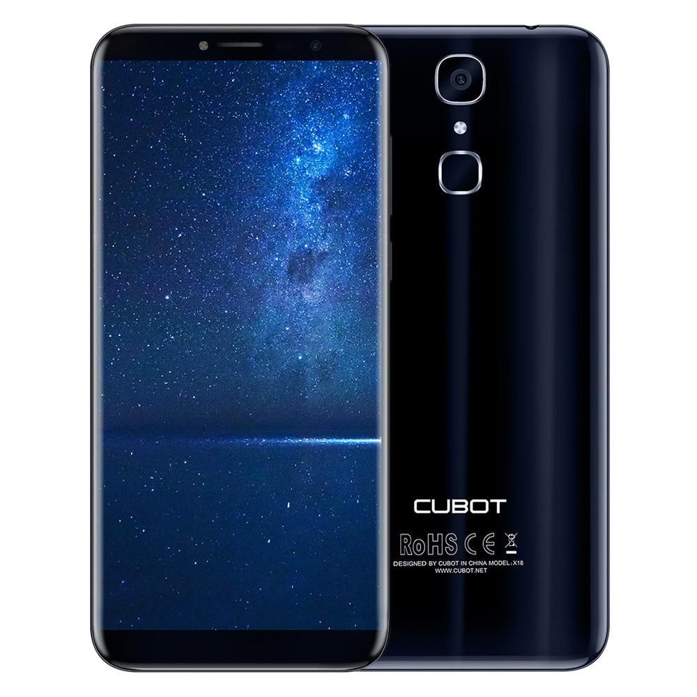 Cubot X18 4G Smartphone Android 7.0 5.7 Pollice MTK6737T Quad Core da 1.5 GHz 3 GB di RAM 32 GB ROM 13.0MP Telecamera Posteriore di Impronte Digitali Scanner