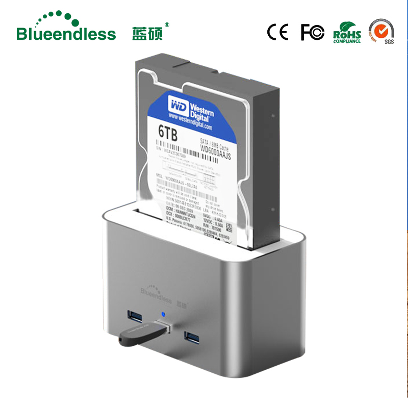 Aluminum 2.5/3.5 Inch Docking Station transmission USB 3.0 to SATA HDD up to 3TB compatible Hdd Docking Station high quality tsai fan motorized ball valve 2 ac110 230v 2 5 wires electric valve dn50 upvc ball valve normal close open for hvac systems