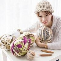 500グラム100メートル太い糸編みファンシーアイスランド糸100%アクリル染め安い帽子糸針手編糸韓国スタイ
