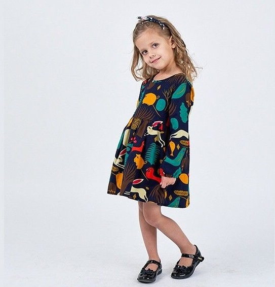 Toddler Girl Long Sleeve Floral Tunic Tops long sleeve gilding tunic top